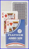English pattern - Jumbo size  (Single cards) (Piatnik) by Piatnik - Cat Ref 10711