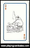 55 Fishing Cartoons Playing Cards by Piatnik, 1997. - Cat Ref 12795