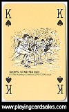 Commemorative Olympic Playing Cards (double pack only*) by A.S.S. for Waddingtons for Stanley Gibbons Antiquarian, London, 1980 - Cat Ref 14647