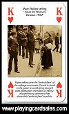Votes for Women playing cards by Heritage PC Co., 2010 - Cat Ref 14684