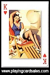 Pin-Ups playing cards - Pure Nostalgia! by Piatnik for Bird Playing Cards, 2010 - Cat Ref 14715